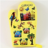 map printed  oven glove
