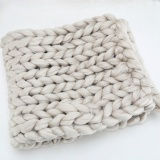 large cable chunky  knit blanket pattern