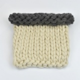 thick chunky knit blanket