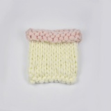 thick wool knit blanket