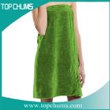 solid color green beach towel wrap br0256