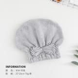 bow knot fast dry hair towel microfiber towels   hair turban  cap