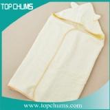 organic hooded baby towel