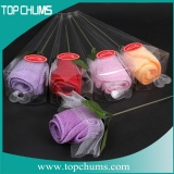 rose flower shape towel cake ct0054