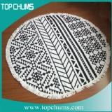 aztec-round-beach-towel with tassel